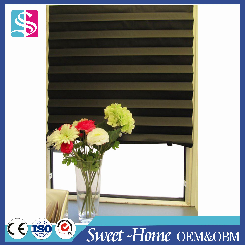 easy manual control custom blackout pleated roman shades in latest design