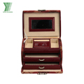 Luxury Hand Made 5 layers PU Leather drawer gift box with handles unique design storage box