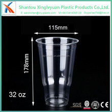 large capacity clear disposable plastic cup