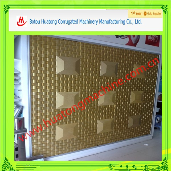 3D pattern metal Stores, wall decoration embossing machinery