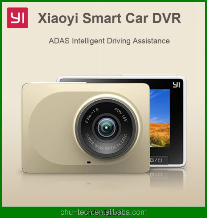 Original Xiaomi Yi Smart Car DVR, Xiaoyi WiFi 165 Degree Dash Cam 1080P 60fps 2.7 Inch 16:9 H.264 Camcorder Car Camera