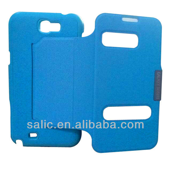 calling display flip stand leather case for samsung
