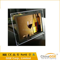 Backlit LED crystal indoor display beautiful photo frames led light advertising board sign board