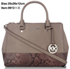 wholesale hot sale fashion designer bags saffiano leather woman handbag Snake pattern-embossed Satchel bags purses women