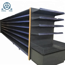 Custom production supermarket metal rack display shelf