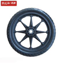 16x1.75 polyurethane bicycle trailer tire 16 inch pu foam flat free solid wheelchair wheel