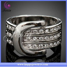 Hot Selling! Charming Ring For Women 18k Golden Plated Ring With Austrian Crystal O Ring(PR050)