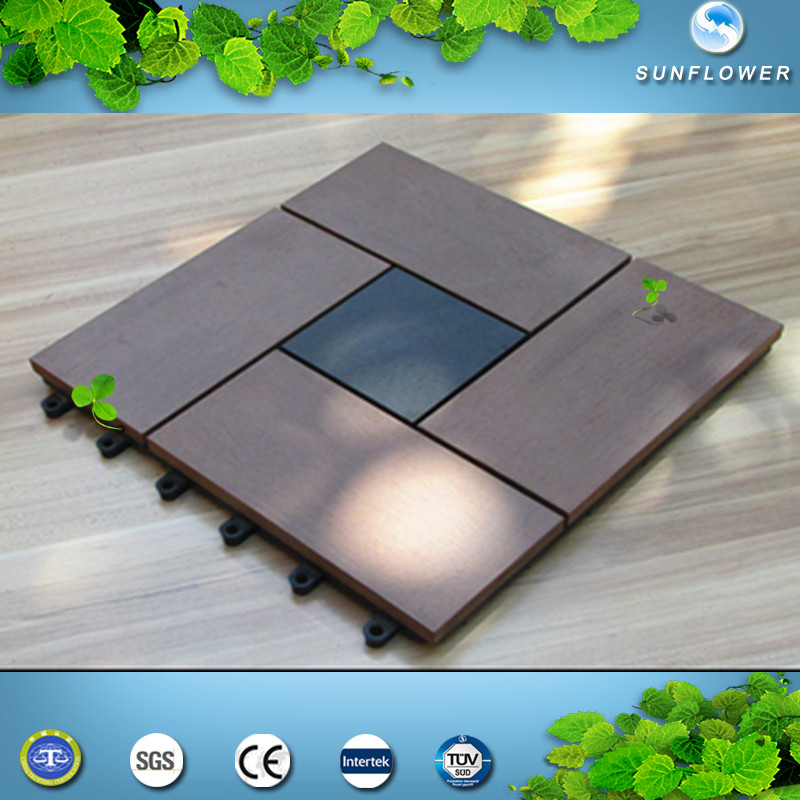 Recycled 100% and eco-friendly wpc building materials Imitation ceramic tile floor