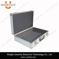 low price hard shell black aluminum truck tool box carrying case with safty combination lock