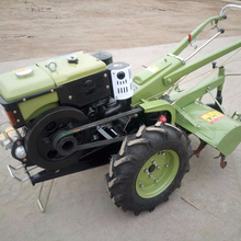 Best selling farm machine two wheel hand walking tractor with power tiller for cultivator