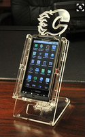 Promotional multiple microfiber mobile phone security display holder cell phone secure display holders