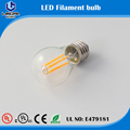 price 200lm warm white LED Golfball Filament Bulb 2W G45 output 25W incandescent bulb
