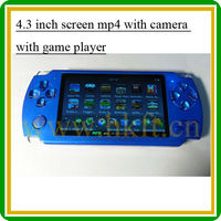 4.3 touch screen game mp4 player with camera