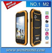 In stock!Original NO.1 M2 Rugged Waterproof IP68 MTK6582 Quad Core 4.5'' Android 5.0 1GB RAM 8GB ROM 13MP Cellphone
