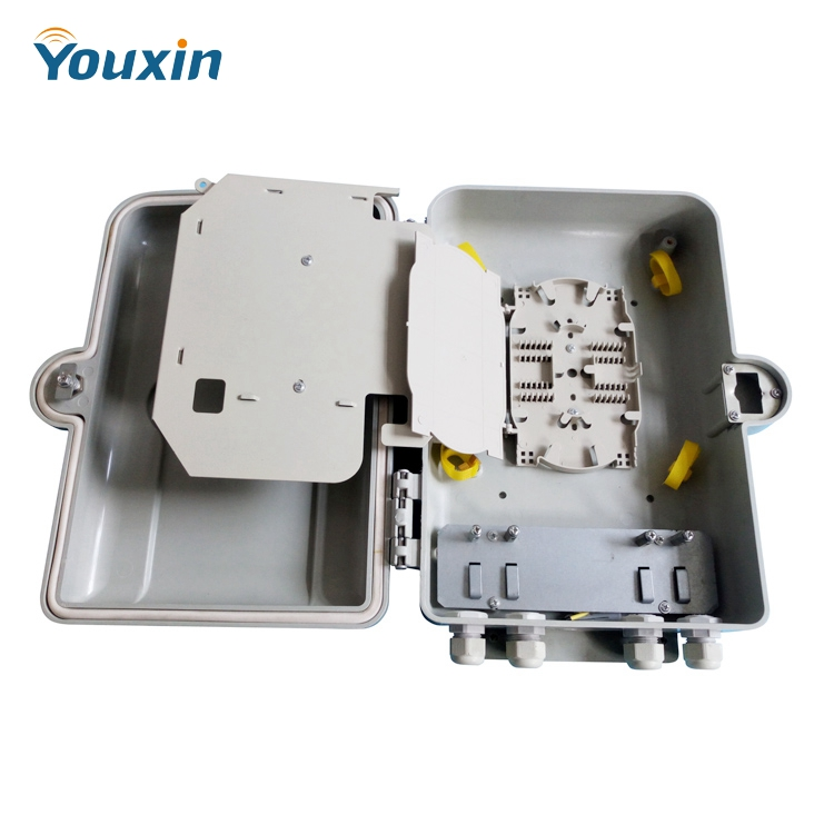 16 core fiber optic termination box 4 inlet and 16 outlet port