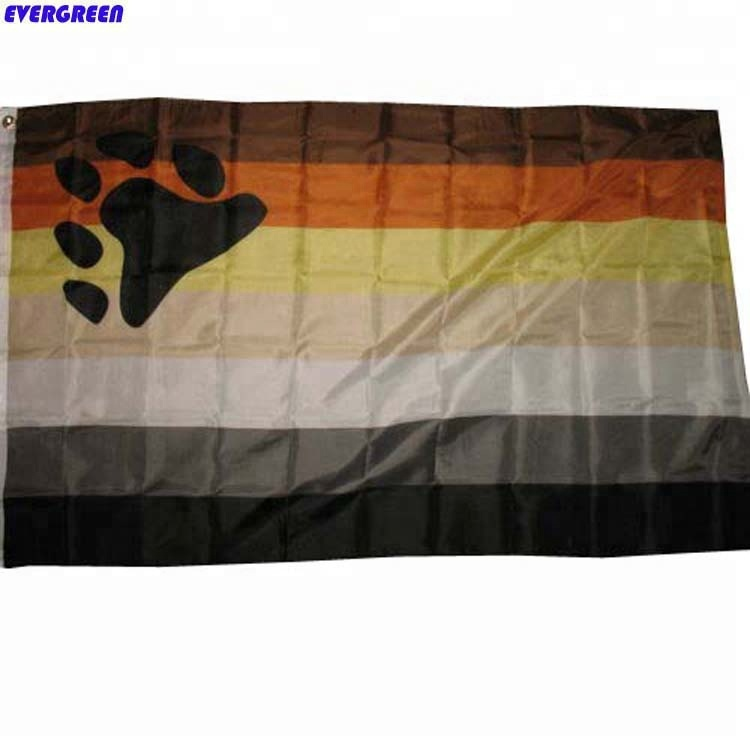 3x5 Bear Pride Flag fade <strong>resistant</strong> outdoor