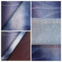 A706 21S new design colors strip fake knitted denim fabric for Bangladesh wholesale pants