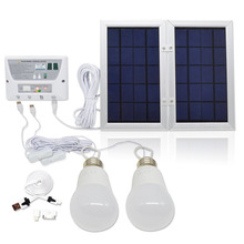 Solar Mobile Light System, Solar Home DC System Kit, 3.7V Lithium Battery - 6W Foldable Panel Solar Home System Kit