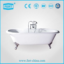 deluxe clawfoot freestanding cast iron color bathtub
