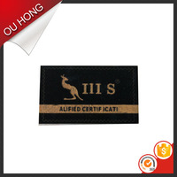Hand Made Custom Garment Suede Leather Label, Suede Leather Patch