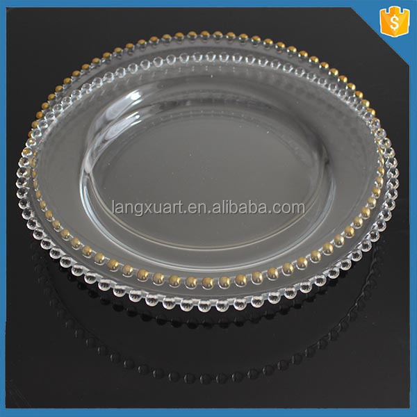 charger plates glass gold charger plates wholesale glass plates