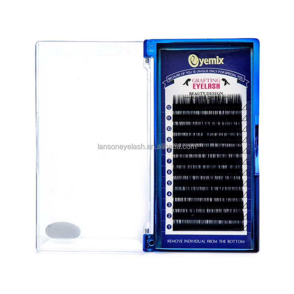 Hot <strong>selling</strong> private label korea ellipse flat eyelash extension