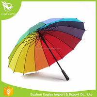 Windproof Self-standing Car Sun Rainbow Folding Umbrella,promotional gifts ideas strong fiberglass ribs rainbow golf umbrella