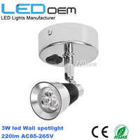 wall led light adjustable with Switch 3W