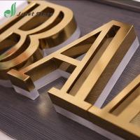 High quality illuminated brass letter brass signs