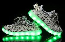 2016 Children Led Light Up Tennis Sport kids Shoes usb charging Yeezy Sneakers shoes