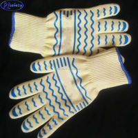 Oven Glove- Heat Resistant Gloves- Superior Heat proof Oven Mitts with Non-Slip Silicone Grip-