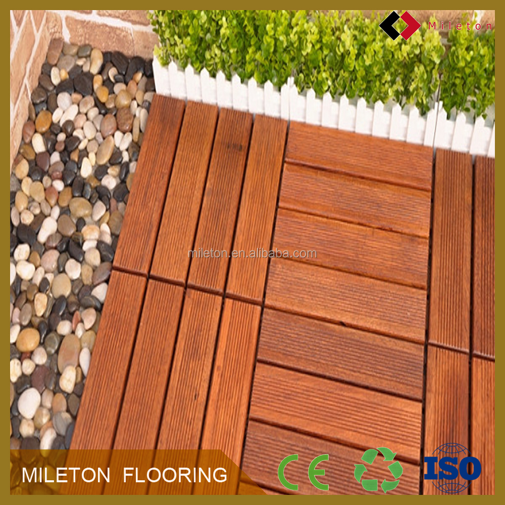 Antiskid merbau solid wood floor rotproof wood decking Indonesia import