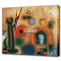 Lovely abstract cartoon cloth painting