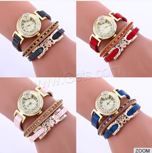 customized design logo womens leather watch with italian leather watch