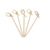 Fancy Disposable Bamboo  Flat Knot Skewer Food Picks