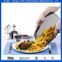 "1 Pcs 30X40CM NonStick BBQ Mesh Grill Mat Perforated Cooking Sheet11.8""X15.7"" cooking mesh"