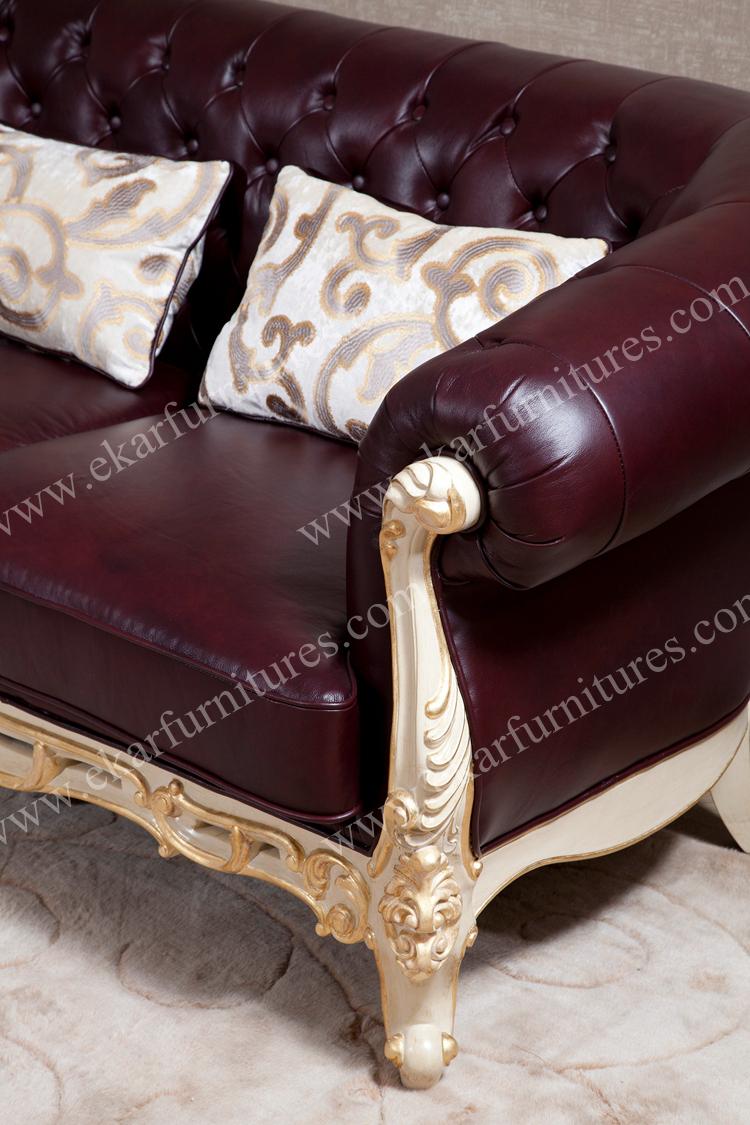 grote amerikaanse landelijke stijl lederen bank-woonkamer sofa ...