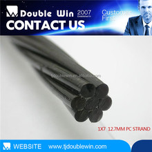 9.53mm pc strand steel cable used to reinforcement bridge