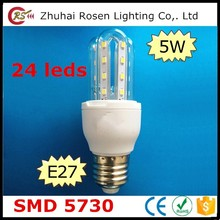 factory price U shape led energy-saving bulb light E27 SMD 5730 24 leds 3U 5w led energy saving lamp