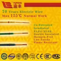 70 years long life irradiated XLPO and XLPE insulated no smoke halogen free electric wire electrical wire and cable