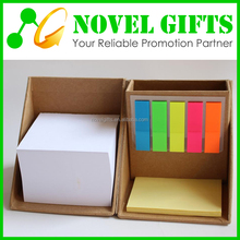 Promotion Custom Cube Shape Memo Note Pad Box with Pen Holder