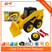 Diy toy plastic self assemble toy truck