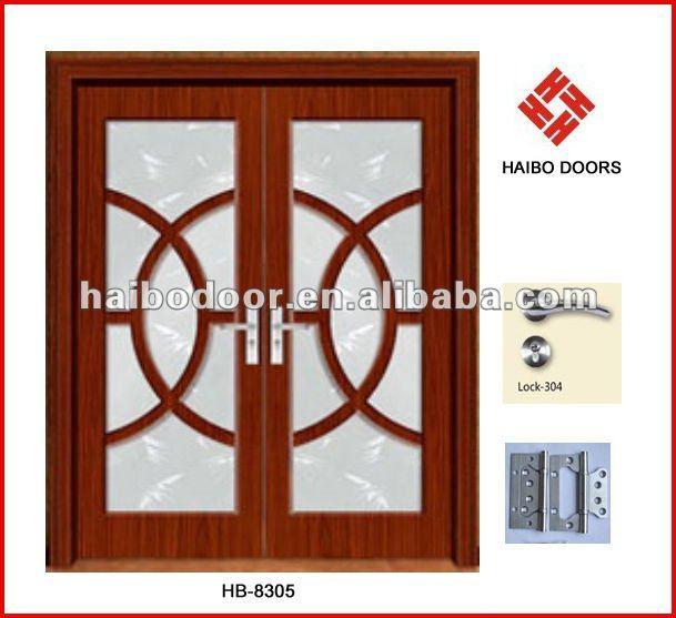 Doble hoja interior pvc puerta de cristal de madera puede for Puertas doble hoja interior madera