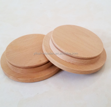 beech wood lids/ wooden candle jar lids