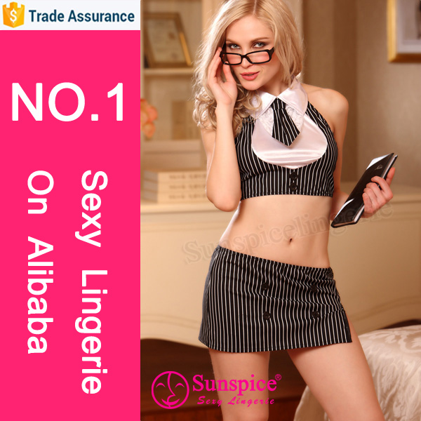 Top quality sexy office uniform sexy secretary costume sexy lingerie