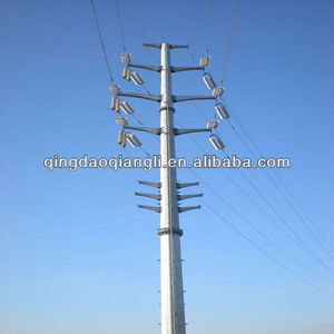 10Kv/60kv/132kv/230kv/380kv/400kvElectric pole/ galvanized steel tower/power transmission steel pole