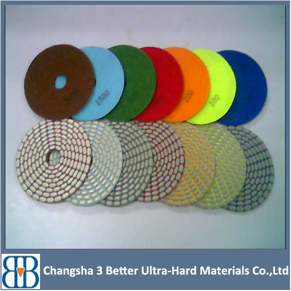 polishing bars and powders felt polishing pads