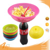 2015 Latest Plastic Mini Popcorn Boxes with Coco Bottle Promotional