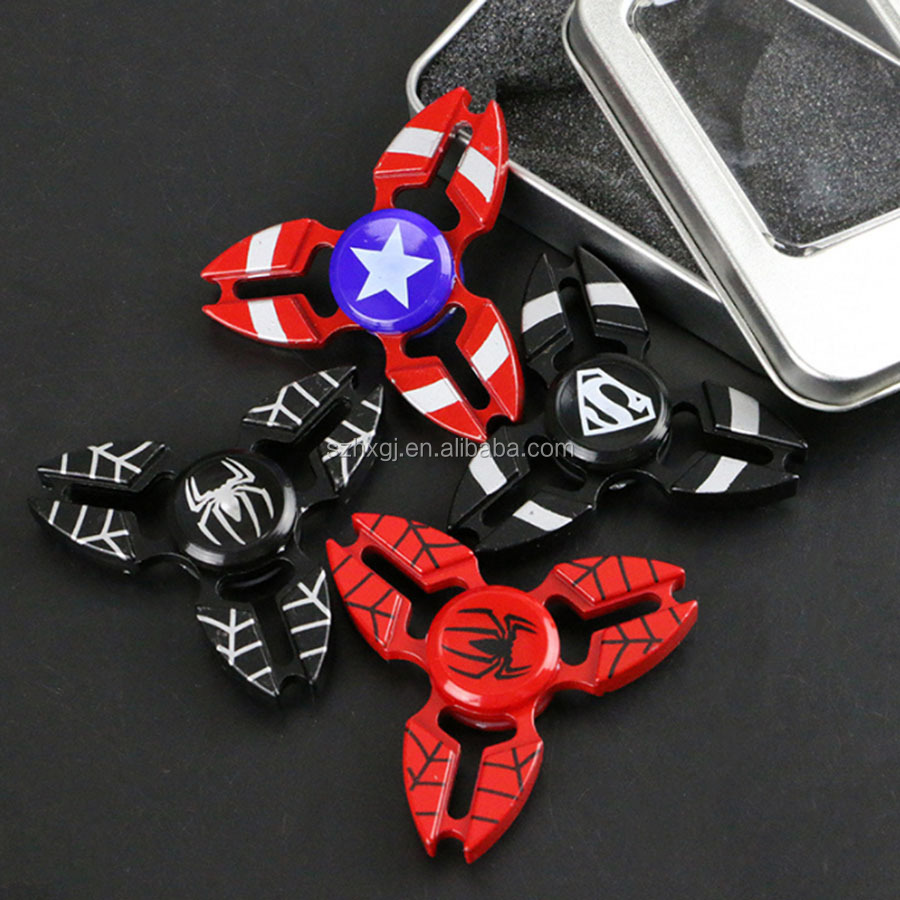 2017 Amzon new spinner crabs fidget hand spinner metal