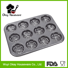 good kitchenware 12 cup muffin pan baking supplies(BK-B1217)